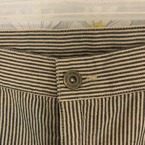 Vintage Liz Claiborne blue and creme striped pants